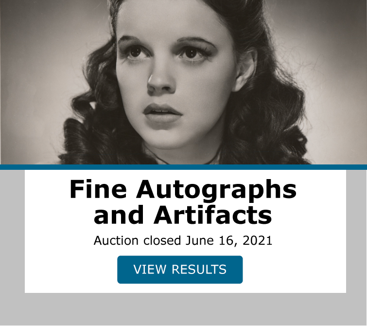 Fine Autographs and Artifacts