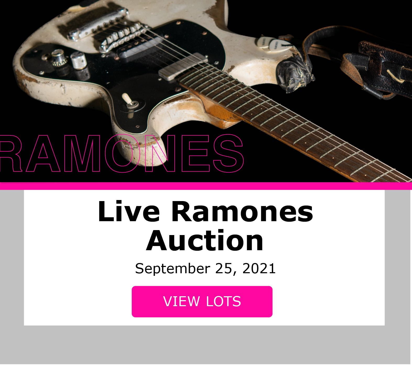 626 : The Ramones collection of Daniel Rey