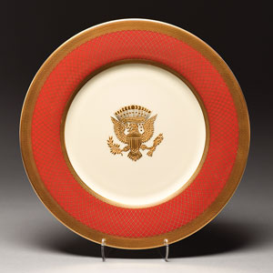 Ronald Reagan White House China Plate