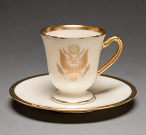 Franklin D. Roosevelt World's Fair/White House China Demitasse Cup and Saucer