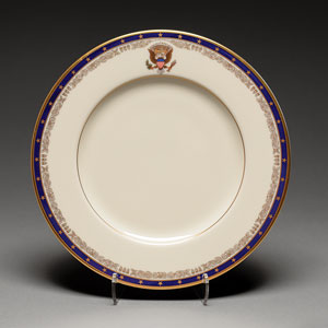 Bill Clinton White House China Dessert Plate (FDR Pattern)