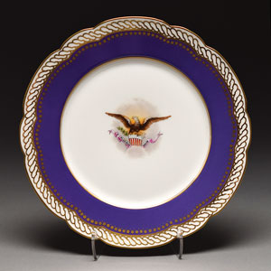 Abraham Lincoln 1876 Reproduction White House China Dessert Plate