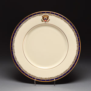 Franklin D. Roosevelt White House China Exhibit Plate