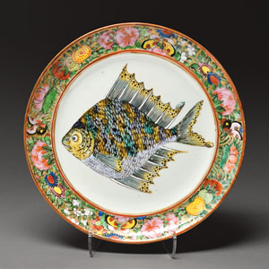 U. S. Grant's Hand-Painted China Fish Plate
