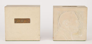 Franklin D. Roosevelt 1950 White House Stone Bookends