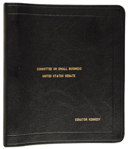 John F. Kennedy's Senate Small Business Committee Notebook