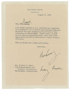 John F. Kennedy Typed Letter Signed with Postcript