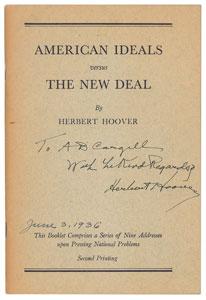 Herbert Hoover Signed Booklet