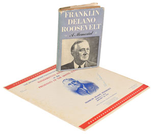 Eleanor Roosevelt Signed Book and Record Album