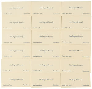 John F. Kennedy Collection of 18 Senate Calling Cards