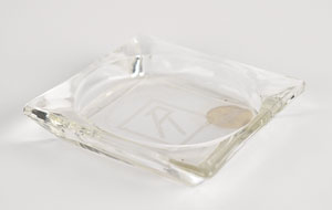 Franklin D. Roosevelt's Square Glass Ashtray