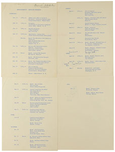 John F. Kennedy Hand-Annotated Senate Schedule