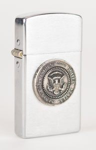 Lyndon B. Johnson 1964 Mexico Meetings Parker Lighter and Medal