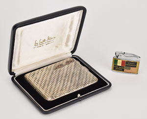 John F. Kennedy 1962 Mexico Meeting Rolex Lighter and Cigarette Case