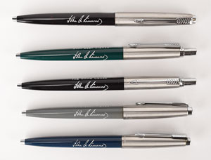John F. Kennedy Group of (5) Parker Gift Pens