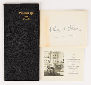 Franklin D. Roosevelt 1942 Christmas Card and Checkbook Gift
