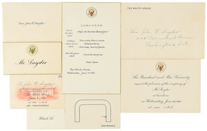 John F. Kennedy 1961 White House Luncheon for Prime Minister of Japan Group Lot