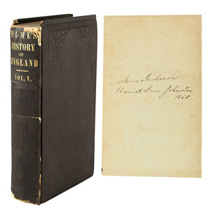 James Buchanan Signed Book: 'Hume's History of England'
