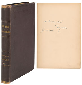 Grover Cleveland Signed Book: 'The Public Papers of Grover Cleveland'