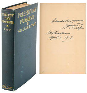 William H. Taft Signed Book: 'Present Day Problems'