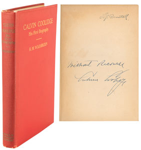 Calvin Coolidge Signed Book: 'His First Biography'