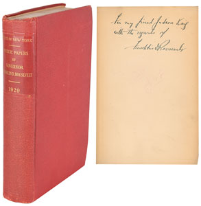 Franklin D. Roosevelt Signed Book: 'State of New York Public Papers'