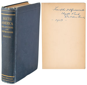 Franklin D. Roosevelt Signed Book: 'South America: Observations and Impressions'