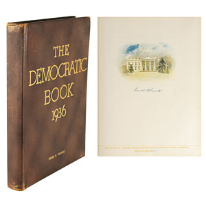Franklin D. Roosevelt Signed Book: 'The Democratic Book, 1936'