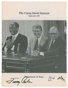 Jimmy Carter and Menachem Begin Signed Book: 'The Camp David Summit'