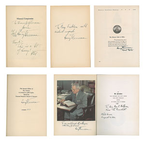 Harry S. Truman Collection of (24) Signed Books