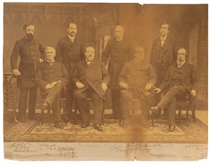 Grover Cleveland and Cabinet Signed Photograph