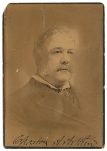 Chester A. Arthur Signed Photograph