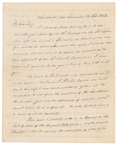James Buchanan Autograph Letter Signed