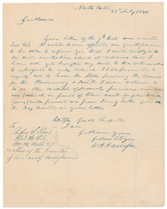 William Henry Harrison Autograph Letter Signed
