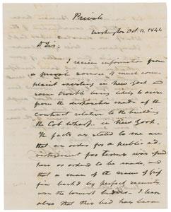 John Tyler Autograph Letter Signed