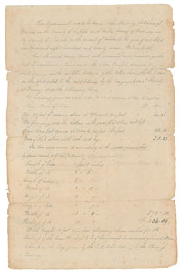 John Quincy Adams Document Signed