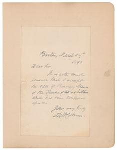 Oliver Wendell Holmes, Sr