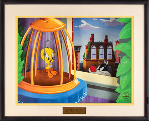 Sylvester and Tweety limited edition Moving Artwork Model