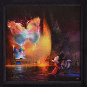 Mickey Mouse and Yen Sid Limited Edition Giclee from Fantasia