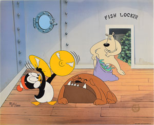 Chilly Willy limited edition 'Fish Locker' cel