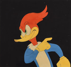 Woody Woodpecker production cel from a Woody Woodpecker cartoon