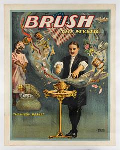 Edwin Brush Magic Show Poster