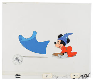 Mickey Mouse production cels from the opening of a Disney Channel cartoon