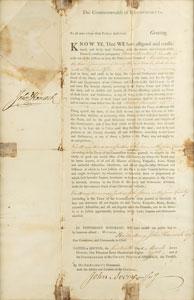 John Hancock and Samuel Adams