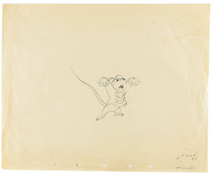 Timothy Q. Mouse production drawings from Dumbo