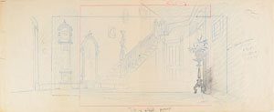 Darling household concept drawing from Lady and the Tramp