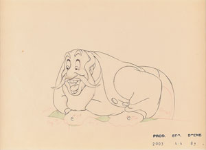 Stromboli production drawing from Pinocchio