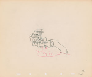 Goofy production drawing from Goofy and Wilbur