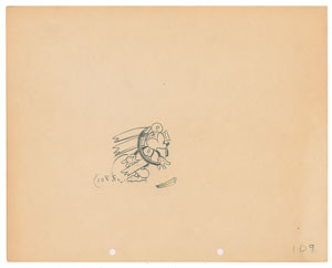 Mickey Mouse production drawing from The Klondike Kid