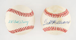 Ted Williams and Bill Terry